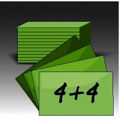 Wzytówki drustronne (4+4)