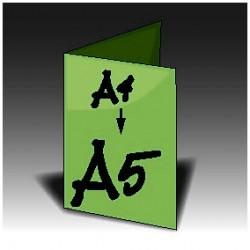 Ulotki A4 składana na pół do A5
